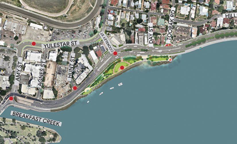 Kingsford Smith Drive Upgrade: Riverwalk, Cameron Rocks